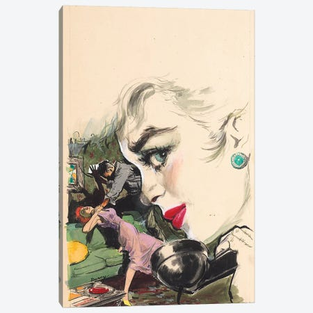 There's Been A Murder Canvas Print #CKA65} by Ernest Chiriacka Canvas Artwork