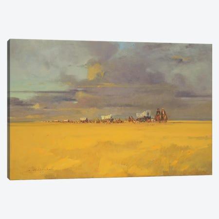 Wagon Trail Canvas Print #CKA66} by Ernest Chiriacka Canvas Artwork