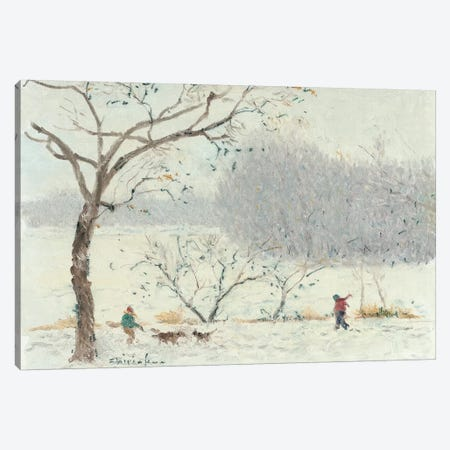 Walking On Lake Of The Isles Canvas Print #CKA69} by Ernest Chiriacka Canvas Print