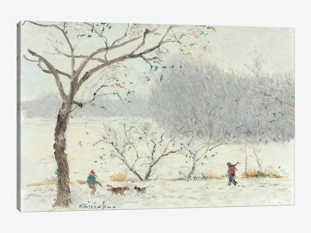 Walking On Lake Of The Isles by Ernest Chiriacka 1-piece Canvas Art