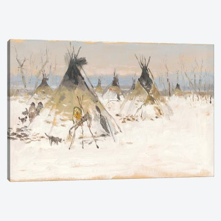 Winter Homestead I Canvas Print #CKA72} by Ernest Chiriacka Canvas Artwork