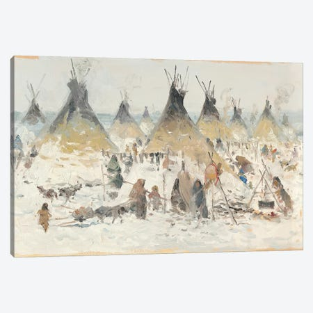 Winter Homestead II Canvas Print #CKA73} by Ernest Chiriacka Canvas Wall Art