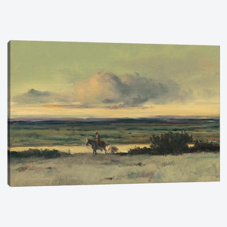 Crossing The Rio Canvas Print #CKA7} by Ernest Chiriacka Canvas Artwork