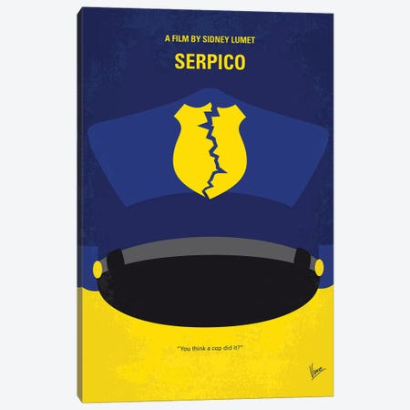 Serpico Minimal Movie Poster Canvas Print #CKG1000} by Chungkong Canvas Art