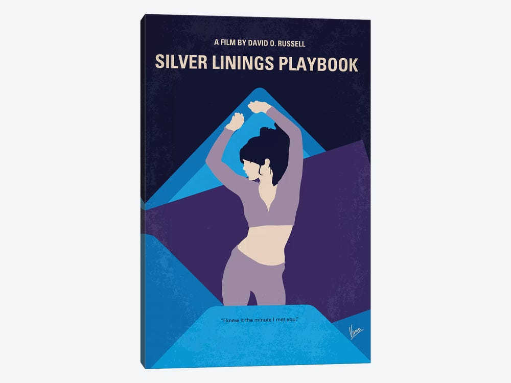 Silver Linings Playbook Minimal Movie Poster by Chungkong 1-piece Canvas Art