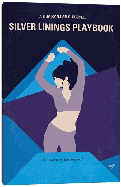 Silver Linings Playbook Minimal Movie Poster Canvas Art Print