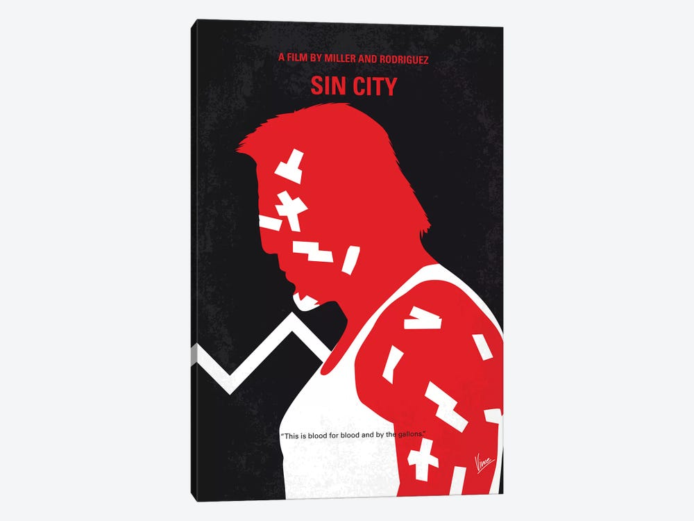 Sin City Minimal Movie Poster by Chungkong 1-piece Canvas Art