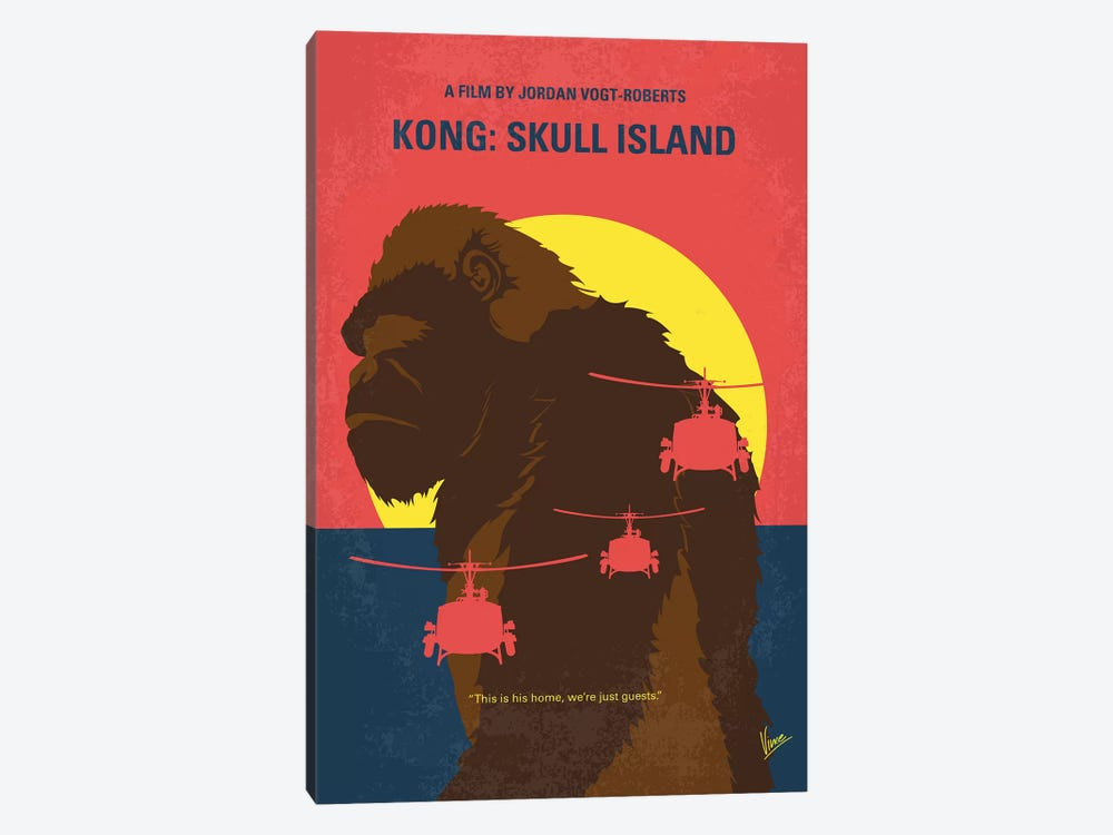 Skull Island Minimal Movie Poster by Chungkong 1-piece Canvas Print