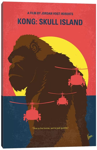 Skull Island Minimal Movie Poster Canvas Art Print
