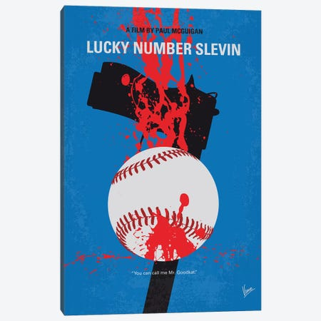 Slevin Minimal Movie Poster Canvas Print #CKG1005} by Chungkong Art Print