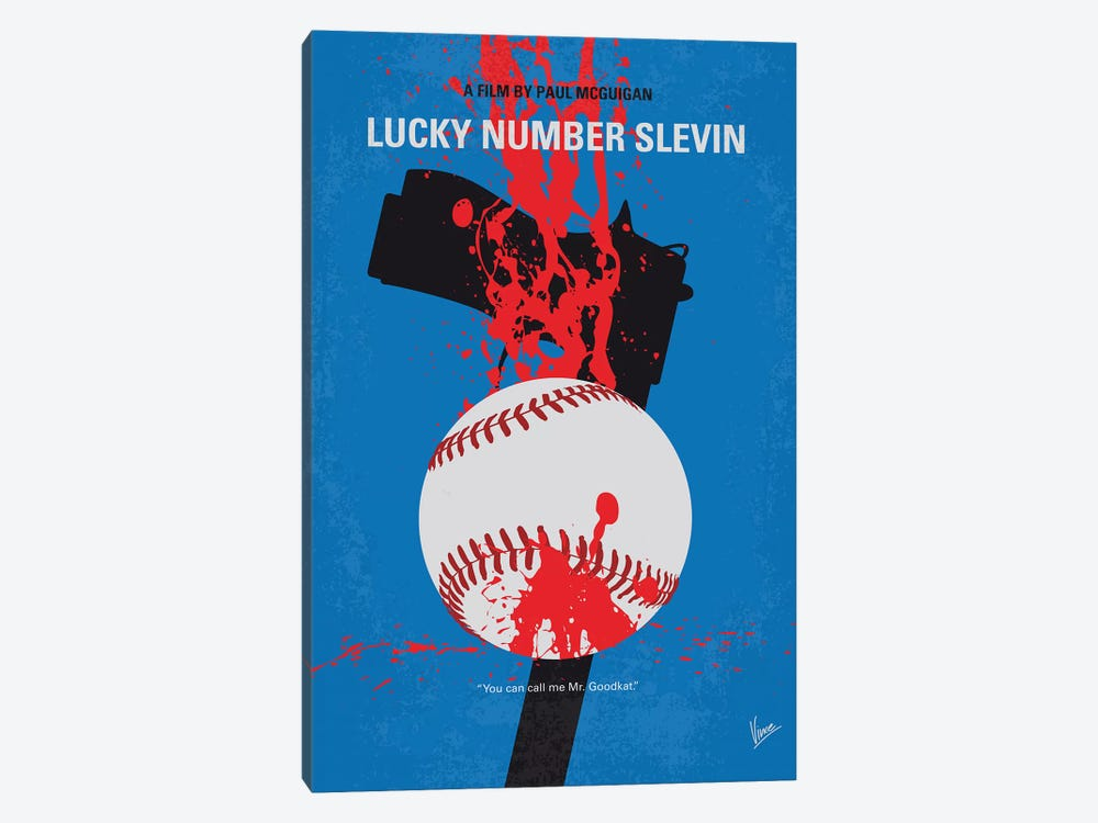 Slevin Minimal Movie Poster by Chungkong 1-piece Canvas Artwork
