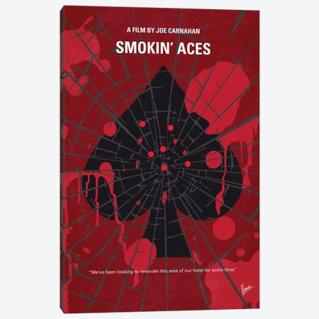 Smokin' Aces Minimal Movie Poster Canvas Print #CKG1006} by Chungkong Canvas Print
