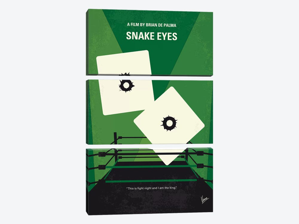 Snake Eyes Minimal Movie Poster by Chungkong 3-piece Canvas Art