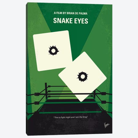 Snake Eyes Minimal Movie Poster Canvas Print #CKG1007} by Chungkong Canvas Art Print