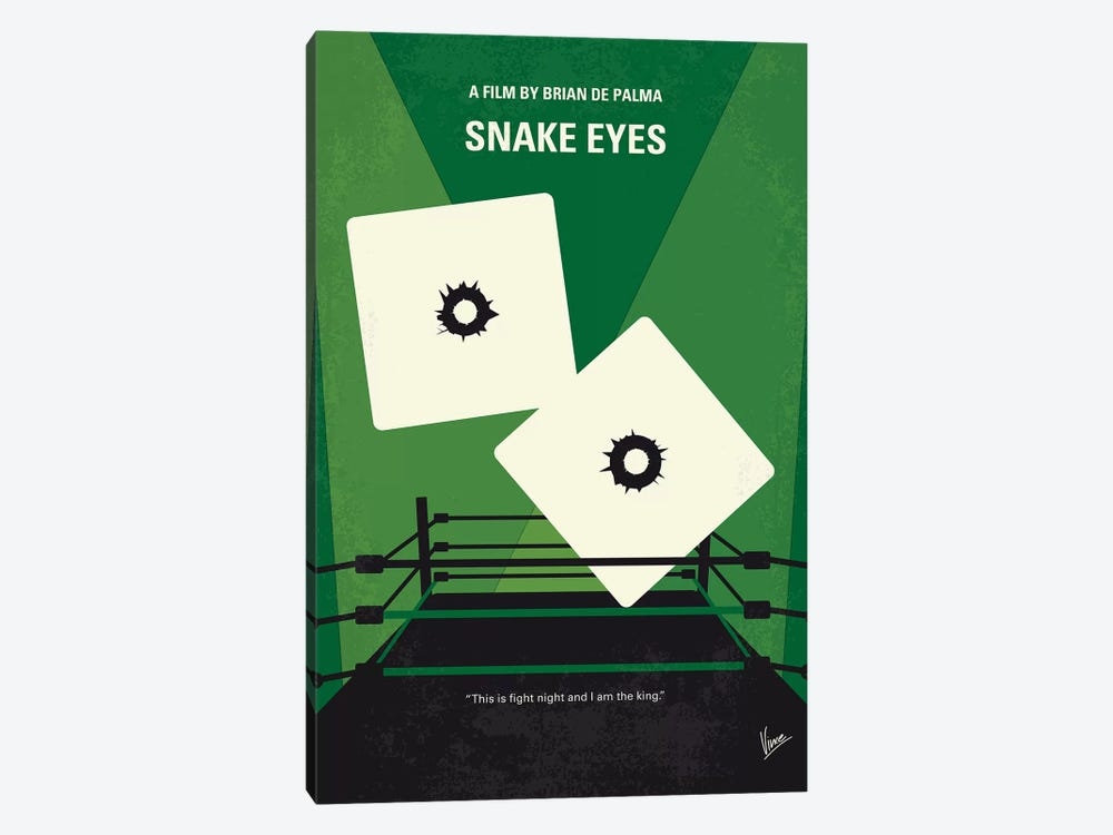 Snake Eyes Minimal Movie Poster by Chungkong 1-piece Canvas Wall Art