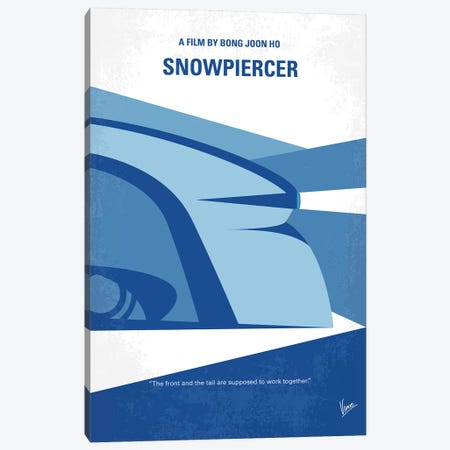 Snowpiercer Minimal Movie Poster Canvas Print #CKG1008} by Chungkong Canvas Art