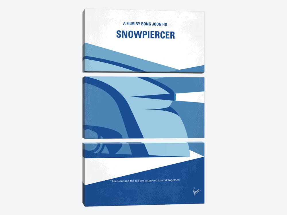 Snowpiercer Minimal Movie Poster by Chungkong 3-piece Art Print