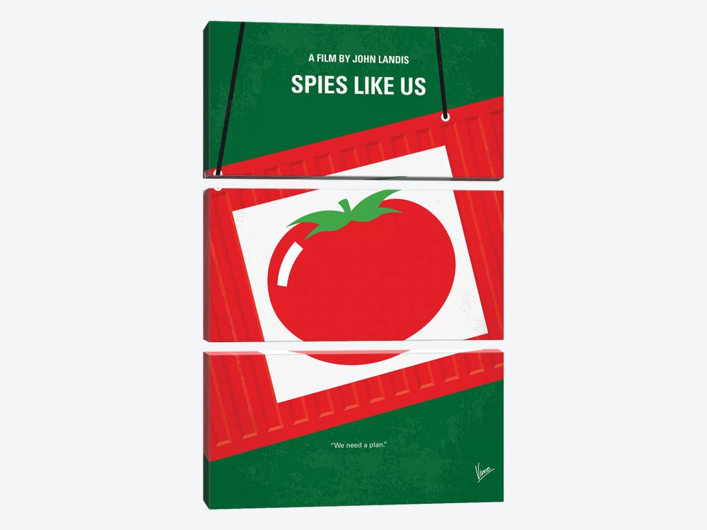 Spies Like Us Minimal Movie Poster by Chungkong 3-piece Canvas Artwork