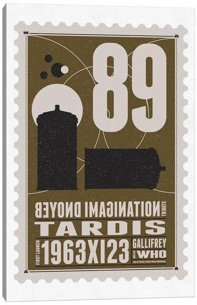 Starships 89 Bonus Postage Stamp Dr. Who Tardis Canvas Art Print