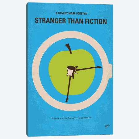 Stranger Than Fiction Minimal Movie Poster Canvas Print #CKG1020} by Chungkong Canvas Art