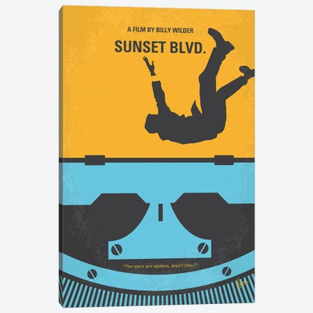 Sunset Blvd. Minimal Movie Poster Canvas Print #CKG1021} by Chungkong Canvas Artwork