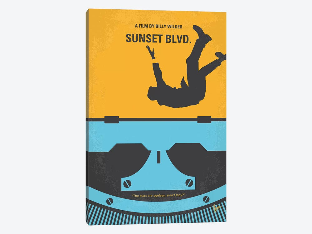 Sunset Blvd. Minimal Movie Poster by Chungkong 1-piece Canvas Wall Art