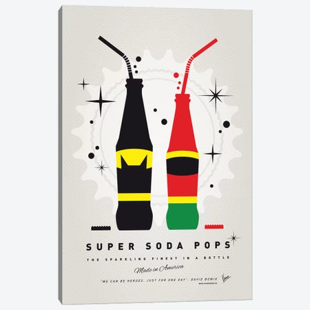 Super Soda Pops I Canvas Print #CKG1022} by Chungkong Canvas Wall Art