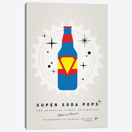 Super Soda Pops V Canvas Print #CKG1025} by Chungkong Canvas Print