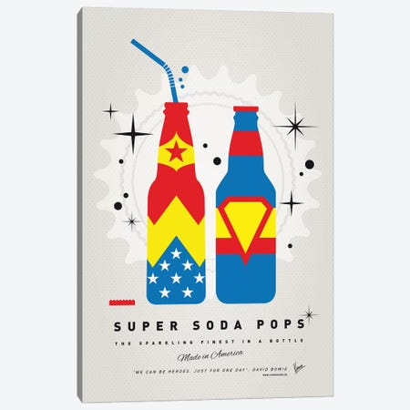 Super Soda Pops VI Canvas Print #CKG1026} by Chungkong Canvas Art Print