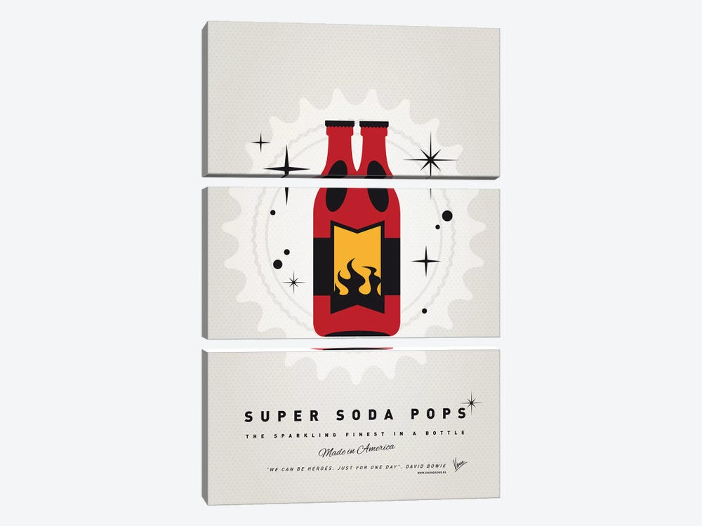 Super Soda Pops VIII by Chungkong 3-piece Canvas Print
