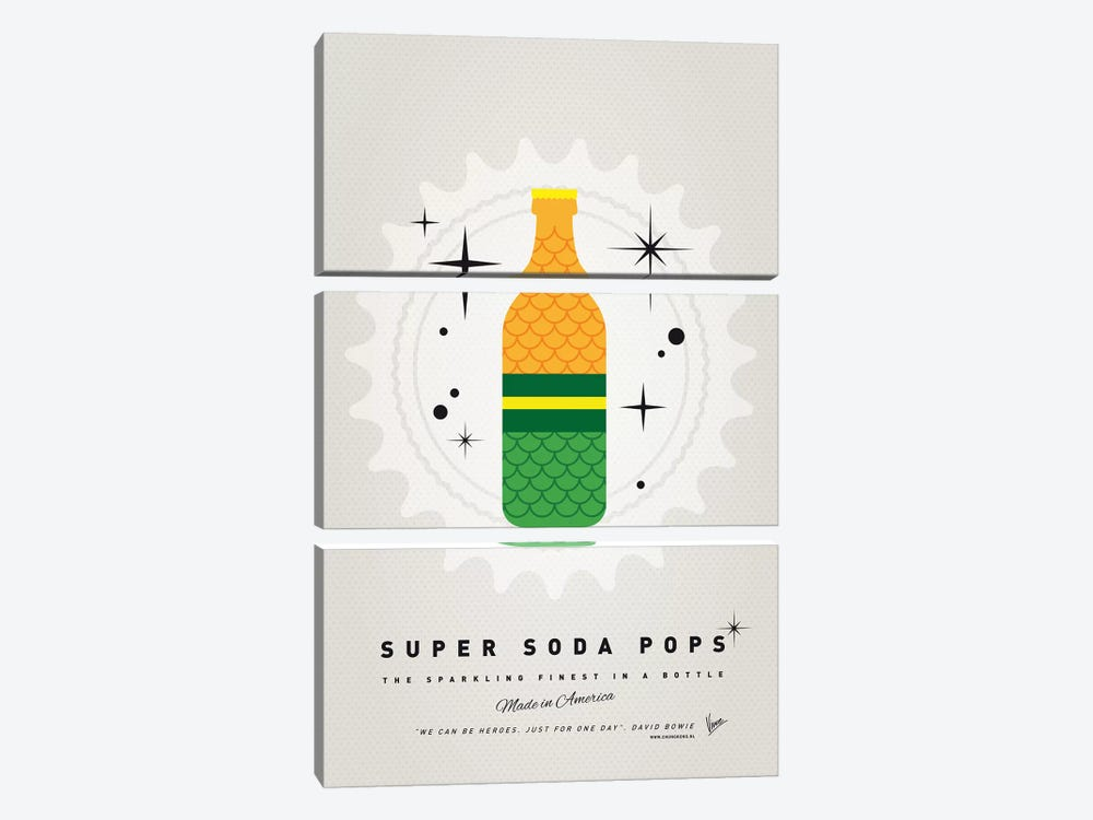 Super Soda Pops XIX by Chungkong 3-piece Canvas Art