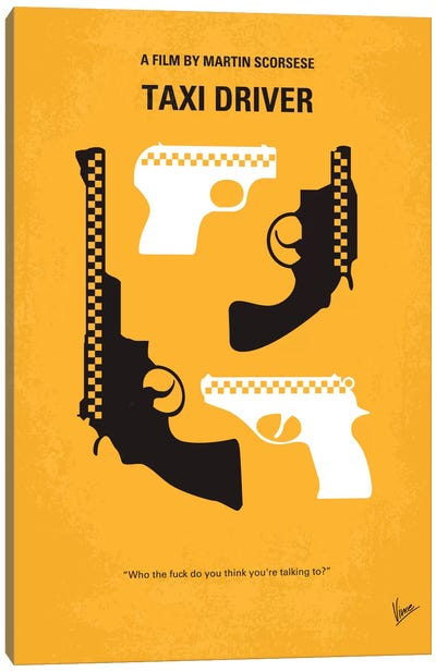 Taxi Driver Minimal Movie Poster Canvas Print #CKG102