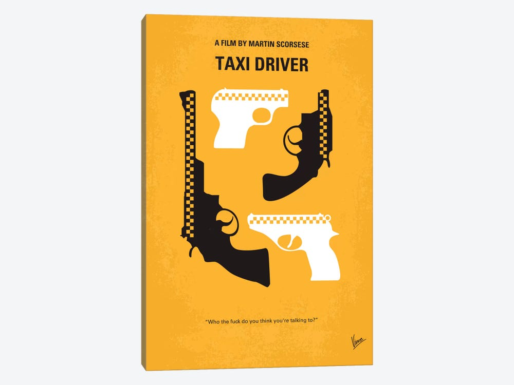 Taxi Driver Minimal Movie Poster by Chungkong 1-piece Canvas Artwork