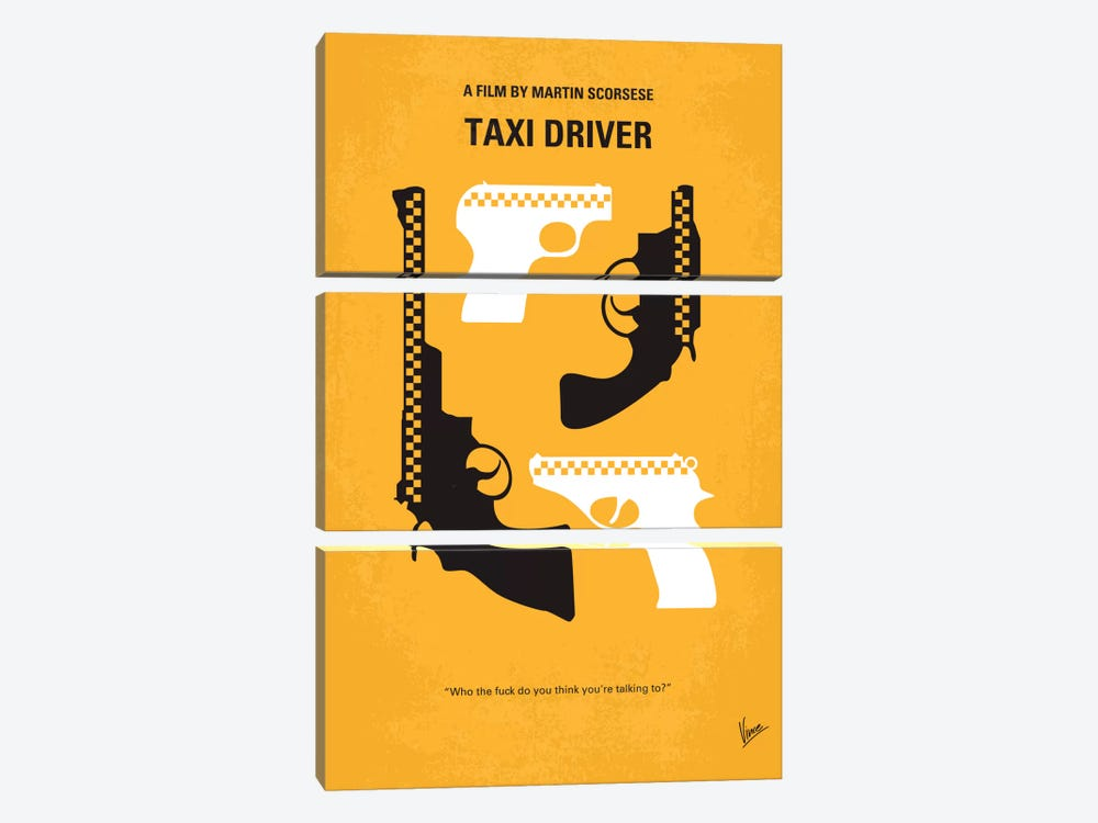 Taxi Driver Minimal Movie Poster by Chungkong 3-piece Canvas Artwork