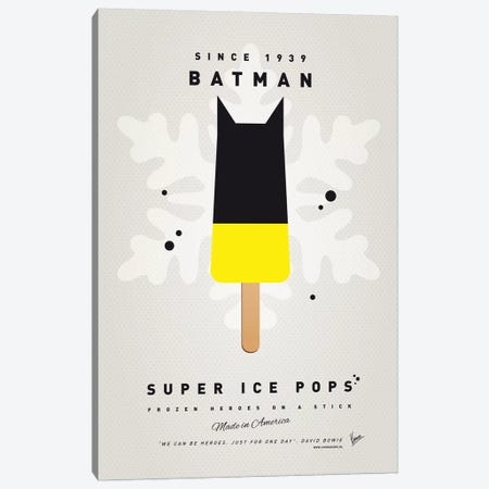 Superhero Ice Pop Batman Canvas Print #CKG1035} by Chungkong Canvas Art