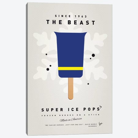 Superhero Ice Pop The Beast Canvas Print #CKG1039} by Chungkong Canvas Print