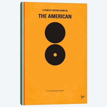 The American Minimal Movie Poster Canvas Print #CKG103} by Chungkong Canvas Artwork