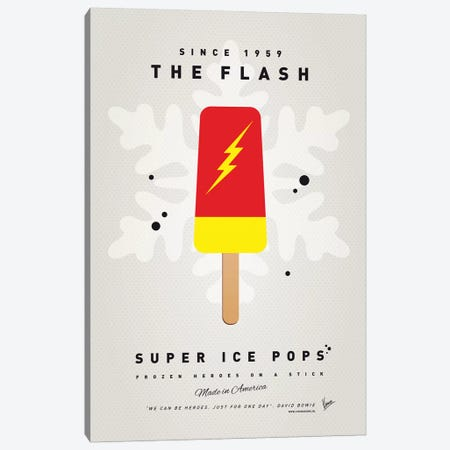 Superhero Ice Pop The Flash Canvas Print #CKG1040} by Chungkong Canvas Art