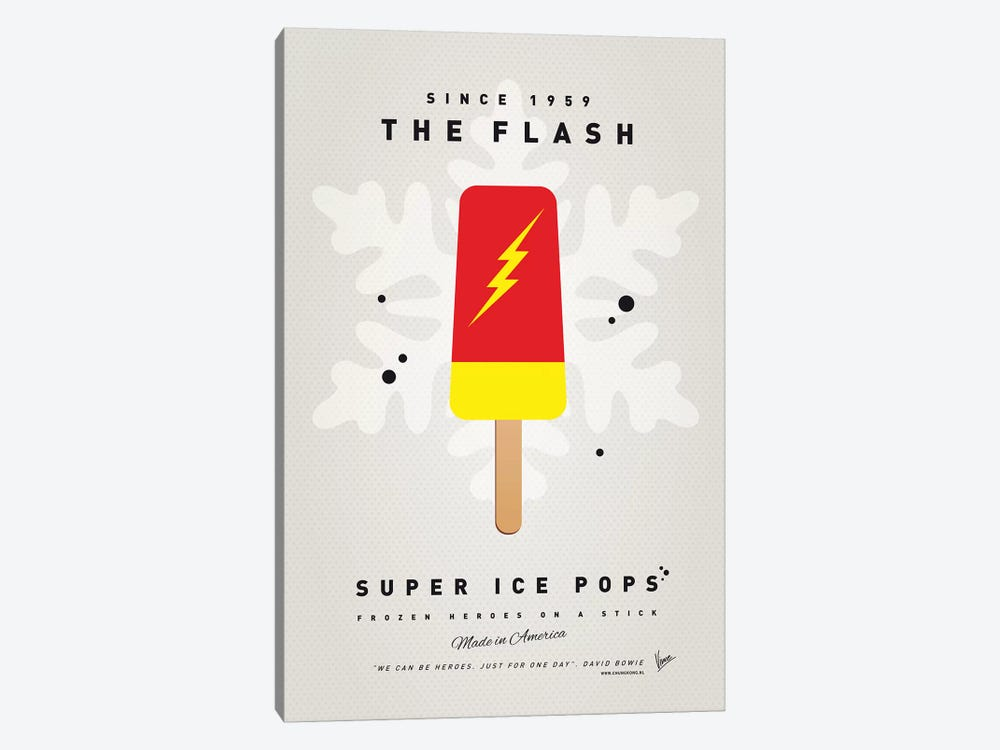 Superhero Ice Pop The Flash by Chungkong 1-piece Canvas Print