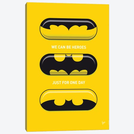 Superhero Pills Batman Canvas Print #CKG1042} by Chungkong Canvas Artwork