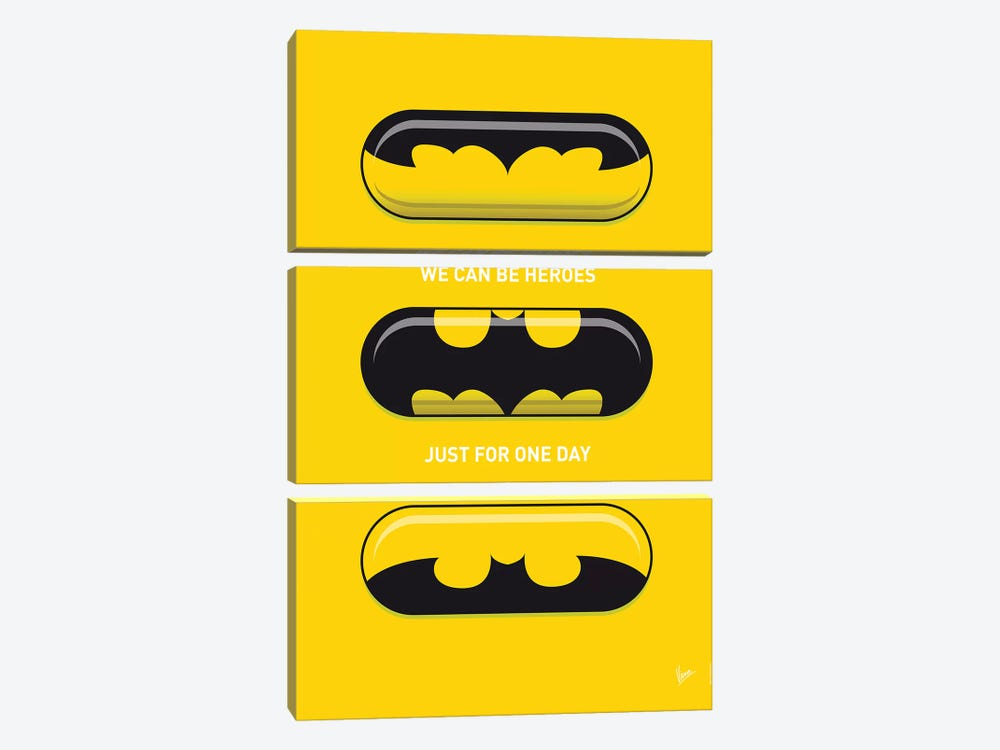 Superhero Pills Batman by Chungkong 3-piece Art Print