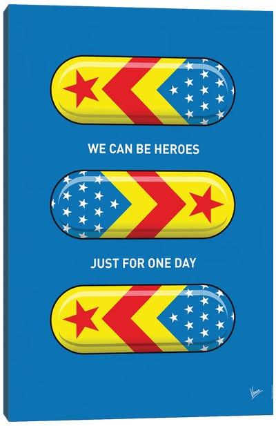 Superhero Pills Superwoman Canvas Art Print