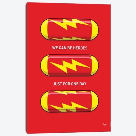 Superhero Pills The Flash Canvas Print #CKG1044} by Chungkong Art Print