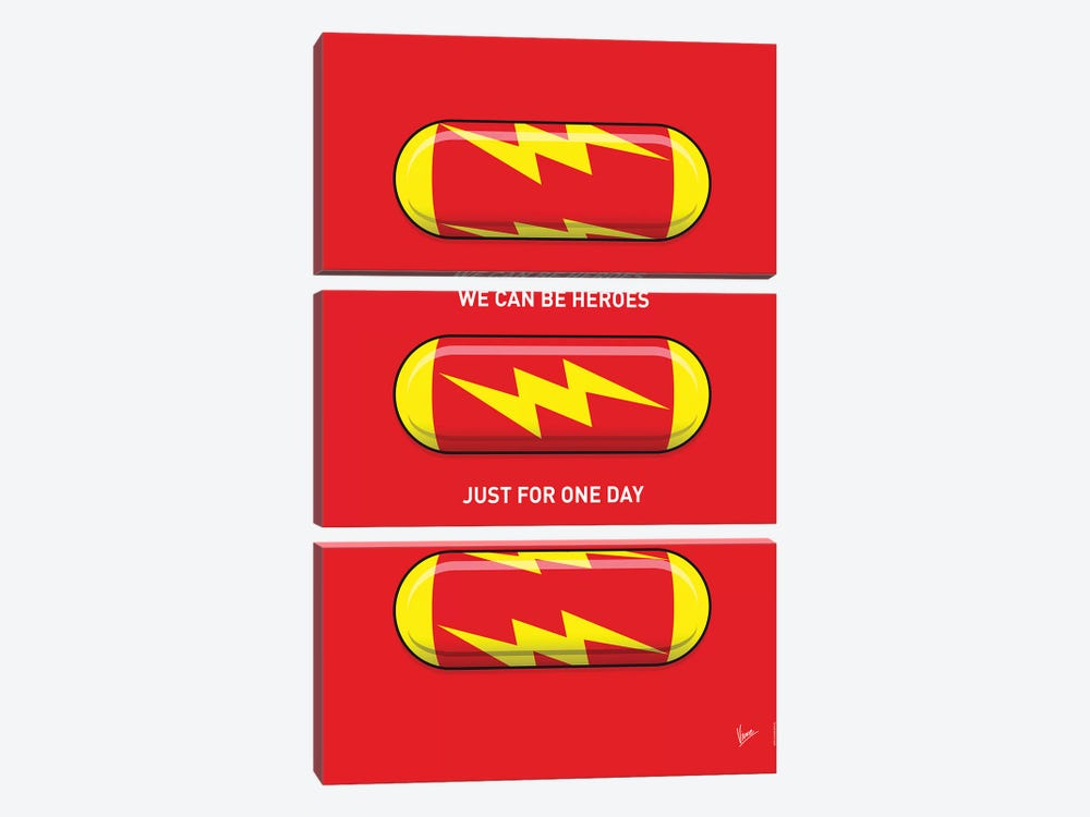 Superhero Pills The Flash by Chungkong 3-piece Canvas Print