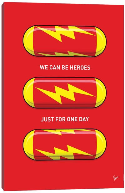 Superhero Pills The Flash Canvas Art Print
