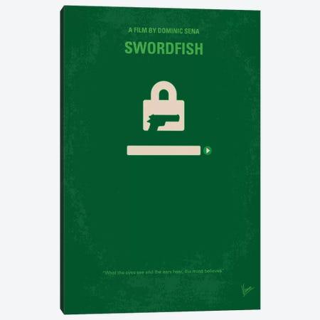 Swordfish Minimal Movie Poster Canvas Print #CKG1046} by Chungkong Art Print