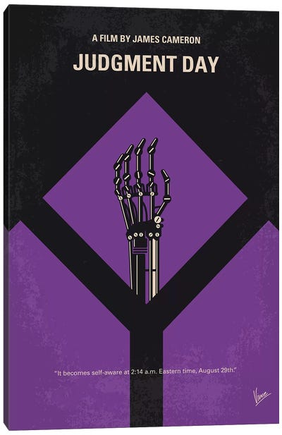 Terminator 2 Minimal Movie Poster Canvas Art Print