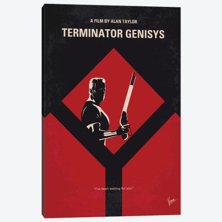 Terminator Genisys Minimal Movie Poster Canvas Print #CKG1049} by Chungkong Canvas Artwork