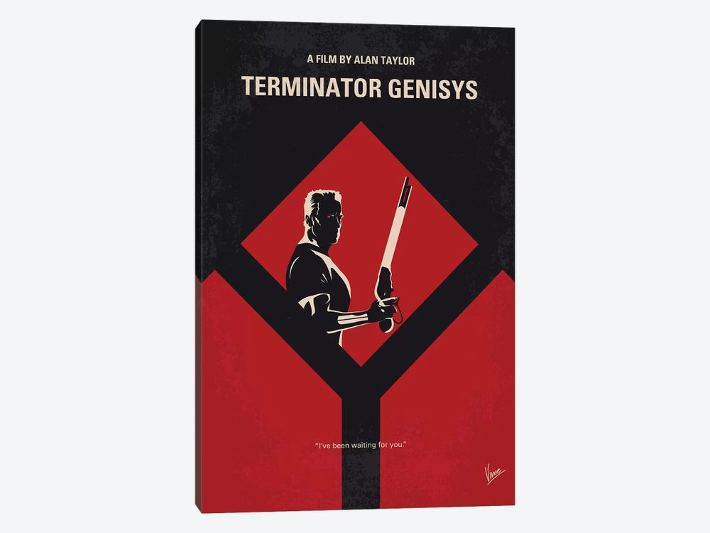 Terminator Genisys Minimal Movie Poster by Chungkong 1-piece Canvas Artwork