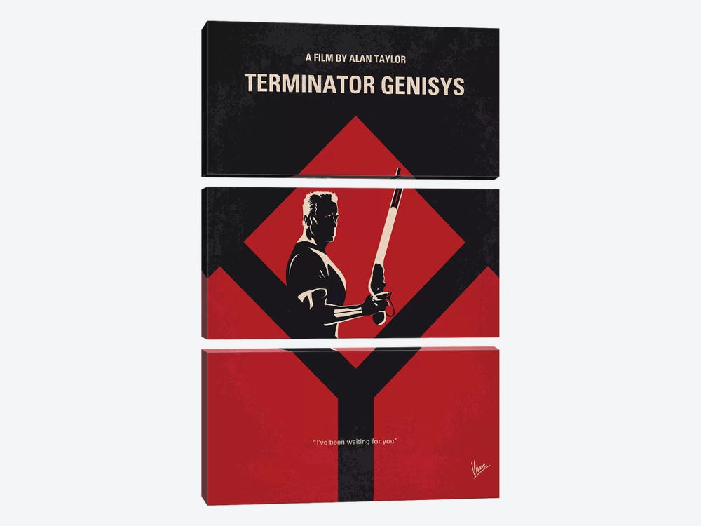 Terminator Genisys Minimal Movie Poster by Chungkong 3-piece Canvas Art